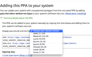 PPA Choice of Ubuntu Flavor