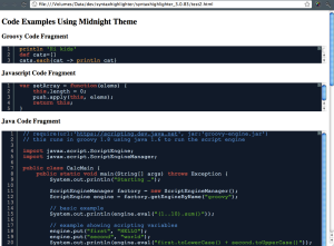 Code Fragment Test Page