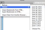 Prior automatic backup copies of Firefox bookmarks