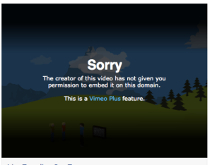 Facebook will not play vimeo video