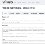Video Settings / Basic Info