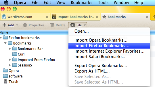 Import Bookmarks from Firefox