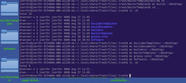recovery sessoin on ubuntu 14.04